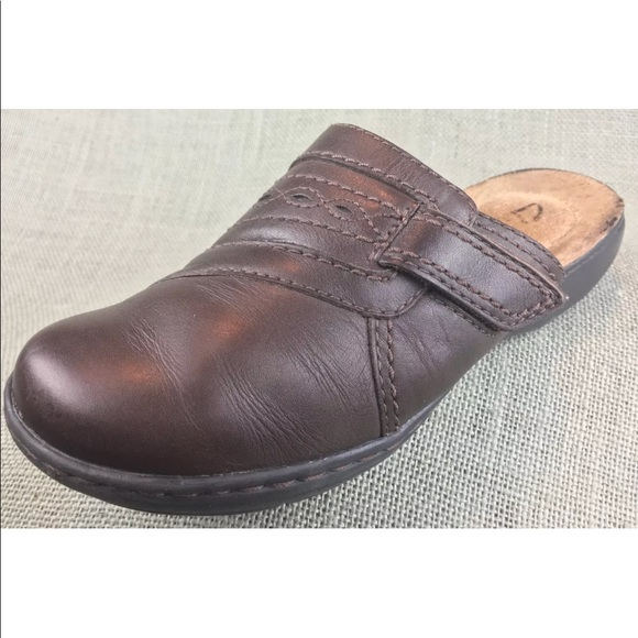 complimentary shipping colours and striking top-rated professional Women's CLARKS Clogs Mules Brown Leather Slides 5